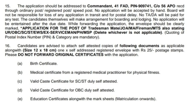 Army Offline Vacancy 2021